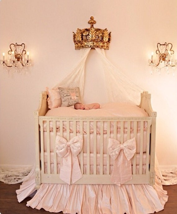 The London Silk And Lace Crib Bedding Crib Bedding