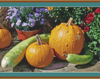 Autumn Still Life I Cross Stitch Pattern