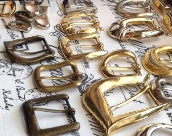 Vintage hardware, Buckles 90s -vintage belt buckles and sliders-11sliders 17 buckles-all salvaged