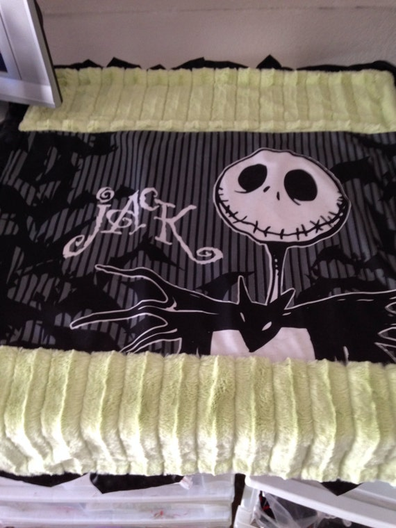 Nightmare Before Christmas Baby Blanket Jack With By