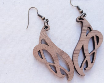 Wood Nouveau Earrings