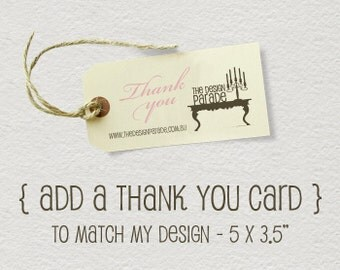 Add a Printable Thank You Card to match my design