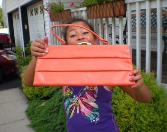 vintage orange handbag