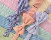 Seersucker Bow Tie for Boys - Many Colors