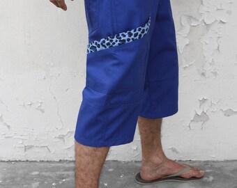Blue bermuda shorts – Leopard