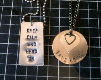 Custom Stamped Pendant - DESIGN YOUR OWN!