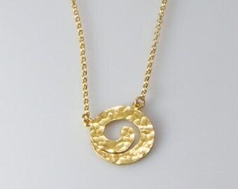 Spiral Necklaces Gold Necklaces Spiral Pendant Hammered  Spiral