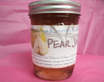 Pear Jam homemade jam jelly handmade Pear preserves fruit spread