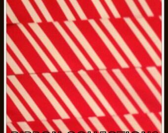 "1.5"" Candy Stripe Red Printed Grosgrain Ribbon"