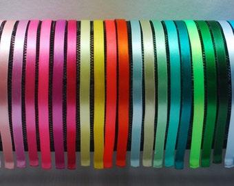 Satin Ribbon Headband, 37 Colors, Girls Headbands, Adult Women Headband,Teen Headbands
