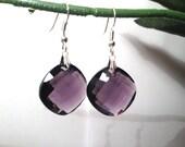 Purple Earrings, Ready to Ship, Amethyst Earrings, Crystal Dangle Earring, Bridesmaid Jewelry, Sale