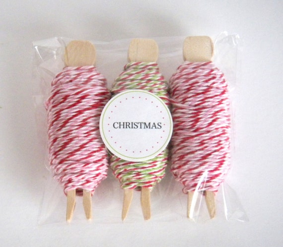 Bakers Twine Christmas 3 pack Divine Twine Peppermint and