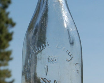 Scarce Round OWL DRUG Co Antique Bottle w/ pic OWL on druggist mortar.  Citrate Magnesia bottle-  Old priof top.