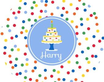 Personalized Birthday Boy Melamine Plate, Childrens Plate, Kids Toddler Dinnerware