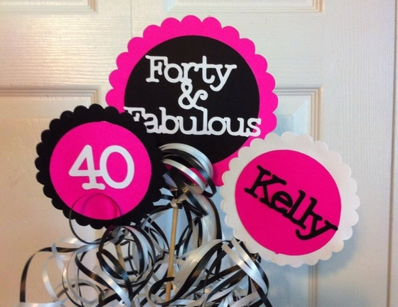 40th birthday decorations 3 piece centerpiece sign set with for 40th birthday decoration