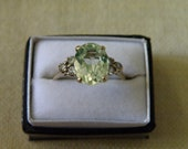 Elegant 10K Gold Aquamarine Ring - 2.40 ctw Aquamarine and Size 7 1/4 U.S.