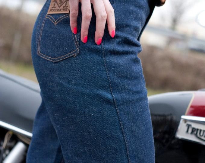 Vintage High Waist Pinup Style Denim Shorts