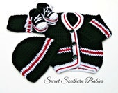 Baby Boys Varsity Sweater with Sneakers and Beanie - Newborn to 12 Months