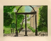 UGA Arch - ACEO Original Painting - Miniature - Last day at this SALE price