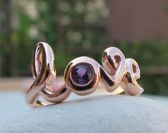Love Amethyst Ring- Friendship Ring- Birthstone Ring- Gemstone Ring- Bestfriend Ring-  Love Ring- Promise Ring