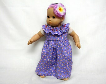 Purple Muumuu Sun Dress For 16 Inch Doll Like Bitty Baby