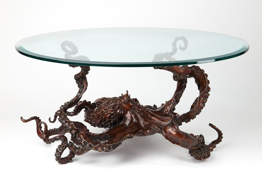 bronze sculpture octopus coffee tablekirk mcguire