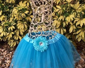 Teal Tutu, Fairy Tutu, Little Mermaid Tutu, Turquoise Tutu Skirt/ Ballet Tutu Child Toddler Infant/ Turquoise Sparkle Tutu