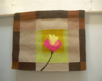 """Wall Tapestry hand made, decorative hanging, BROWN, Cala"""""""