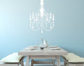 Small Chandelier // Vinyl Wall Decal Sticker