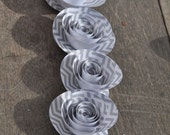 Gray and White  Chevron Paper Flowers Wedding Table Decorations 10 flowers