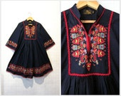 Brand New Dress / Bohemian dress / Dark Blue / Spring summer / Day Dress/ Women fashion