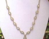 Vintage Rhinestone Choker Marquise Necklace