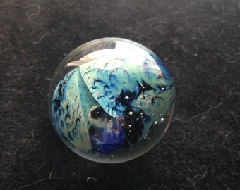 "Vintage 70s Blown Glass Art ""Planets"""