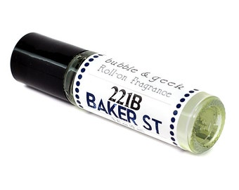 221B Baker Street Scented Roll-on Fragrance - Sherlock Holmes - bookish perfume