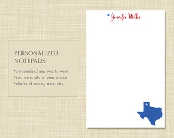 Personalized Notepad - Texas - Your State - State Notepad