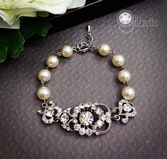 Mother Of The Bride Jewelry: Bridal Bracelet Mother Of The Bride Gift Rhinestone