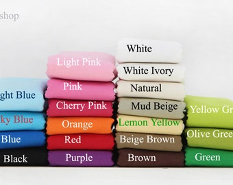 Yard - White, Black, Brown, Green, Red, Blue, Orange,Purple, Natural, Green or other colors (20 Colors) Solid 100% Cotton by Gage - Fikashop