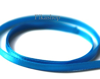 5mm One Sided Blue Satin Ribbon 10 yards Satin Ribbon 50% OFF SALE (KR0030) - Fikashop