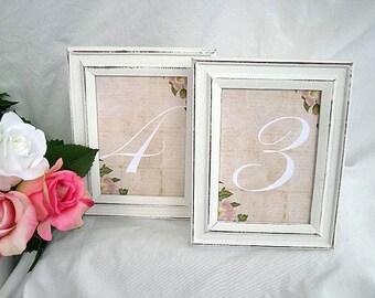 Wedding Table Card Frames Whitewash Wood Frames Wedding Table Number Rustic Table Card Frame Vintage Distressed Whitewashed Wood Shabby Chic