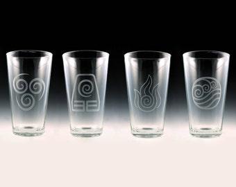 Avatar The Last Airbender - Legend of Korra Pint Glass Set