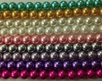 Resin pearls 24mm, 14 beads beads, full strand, pearls,