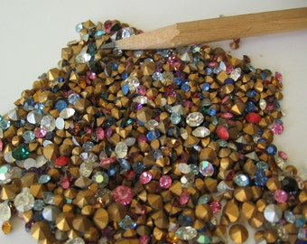 2.5 grams of assorted mixed Swarovski rhinestone crystals