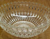 Jeannette Depression Glass Crystal WINDSOR DIAMOND 8 Inch Pointed Edge Round Bowl