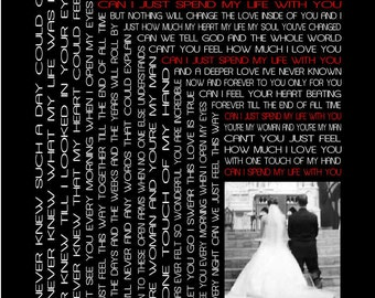 Custom Wedding Song Lyric Art with Photo,  Wedding song, Anniversary print, Engagement song, Valentine gift, Personalized print