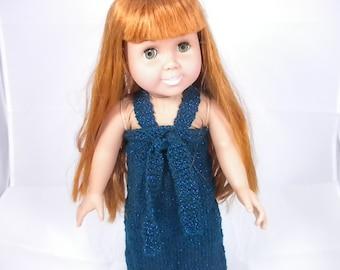 Handknit Doll Dress for 18 inch dolls