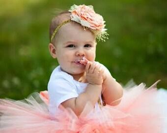 Baby Peach Coral Tutu Skirt