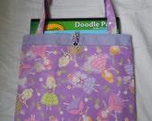 Fairy Princess Girls Tote Bag Trick or Treat Bag Easter Basket