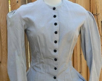 Victorian Polonaise Steampunk Walking Dress Historical Costume Tuxedo Jacket Bodice