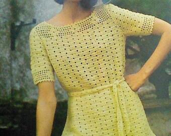Vintage Crocheted Women's  Lacy Long Top Pattern