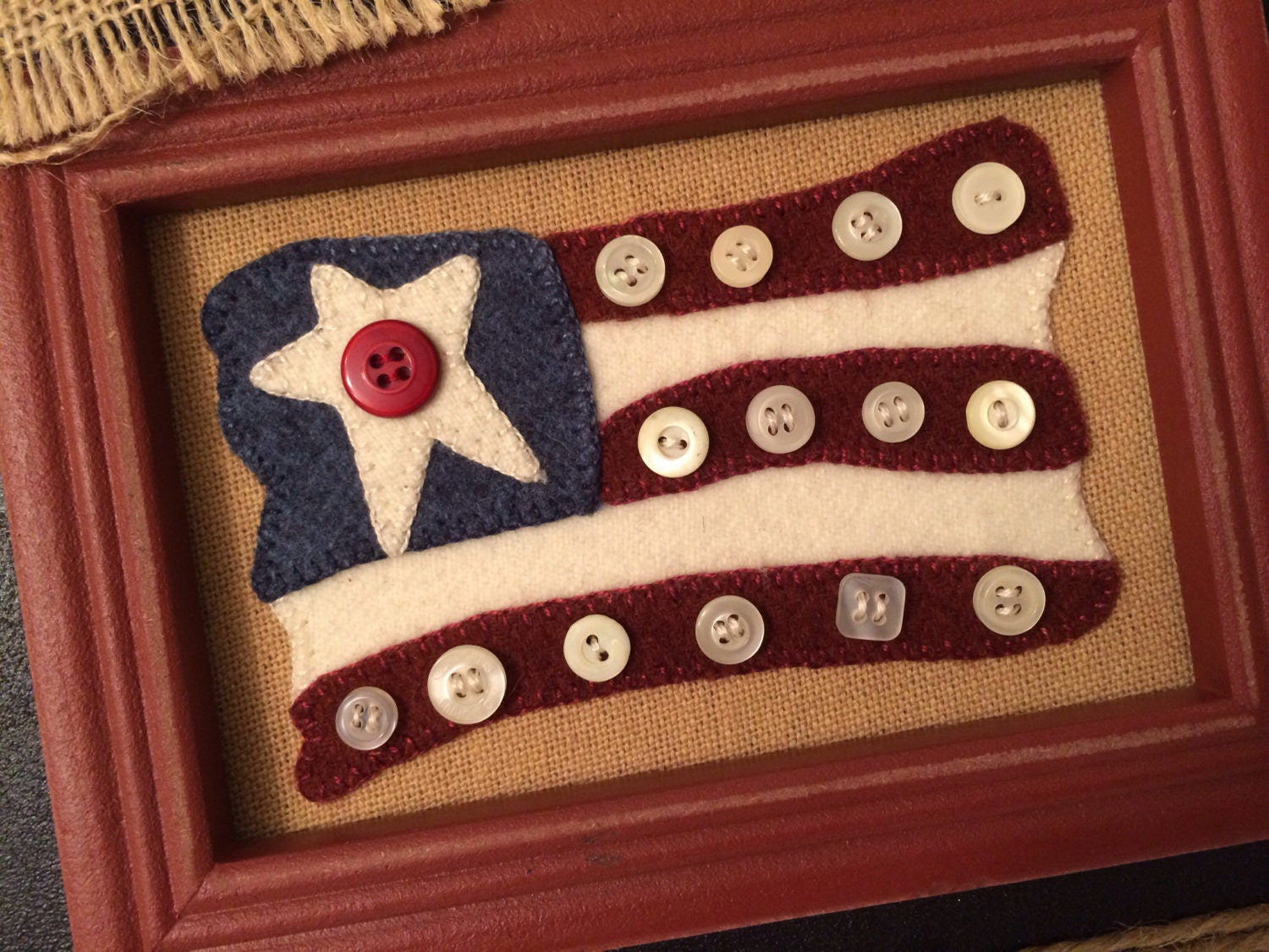 Stars and stripes wool applique kit pattern